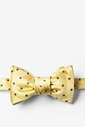 Yellow With Brown Dots Butterfly Bow Tie