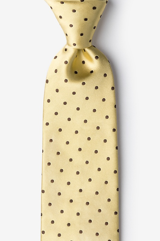 Yellow With Brown Dots Tie