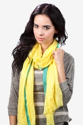 Yellow Viscose Audrey Scarf