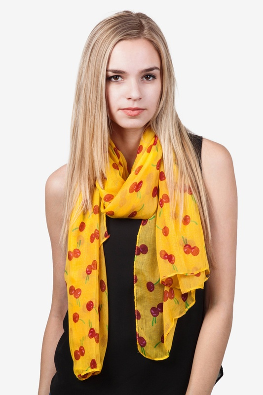 Cherry Picking Scarf by Scarves.com