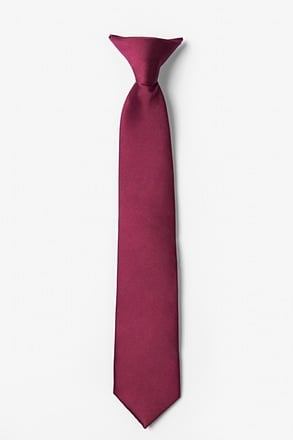 Zinfandel Clip-on Tie For Boys
